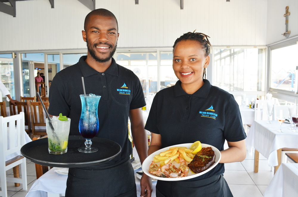 Nelson Mandela Bay Yacht Club Restaurant Waiters